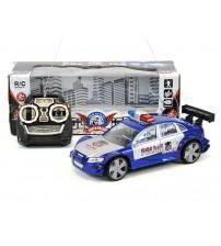 Radio vadāma mašīna policijas 2  virz. un deg lukturi, uz baterijām 18 cm 225657