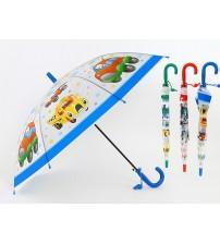Lietussargs ar svilpi bērnu TRANSPORTS dažādas 66 cm garums 501478