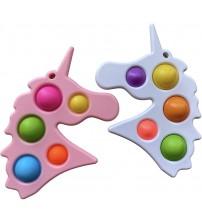 Antistresā rotaļlieta Vienradzis Fidget Toys Simple Dimple Pop It baltais vai rozā 116116
