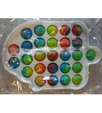 Antistresā rotaļlieta POP IT Fidget Toy Saldējums (Plastmasa) PI-SD-MIX-SALD