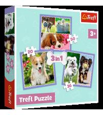Puzlis TREFL Lovely dogs Suņi 3 in 1 3+ T34854