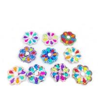 Antistresā rotaļlieta spinners Fidget Toys Simple Dimple Pop dažādas PI_SPINNERS-8