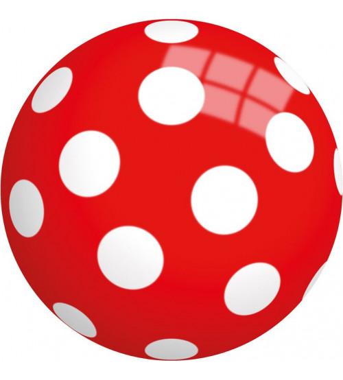 Bumba bērniem 230 mm sarkana ar baltiem aplišiem piepušāma 57131
