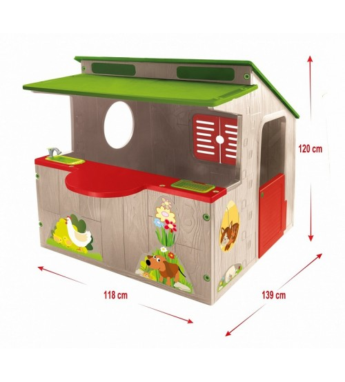Bērnu dārza piknika mājiņa  138x118x120 cm  11392