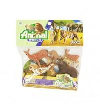 Dzīvnieku komplekts ar mazuļiem 6 gabali HWA1296817