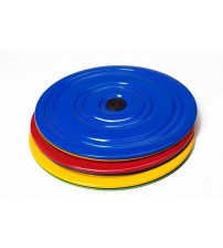 Fitness disks no metāla  zils / dzeltens / violets OS-0701