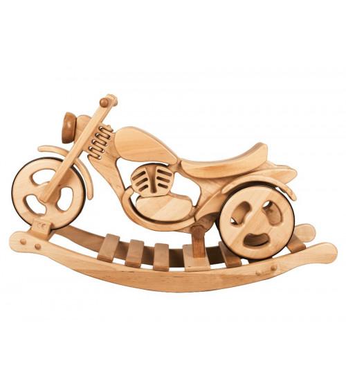 Šūpuļmotocikls koka Kandu Classic divi vienā staigulis un šūpoles NK-22