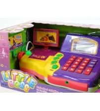 Bērnu kases aparats ar mikrofonu, gaismu un LCD ekrānu 183865