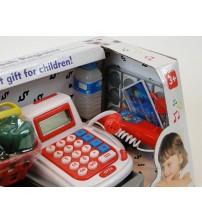Bērnu kases aparats ar mikrofonu, gaismu un LCD ekrānu 201279
