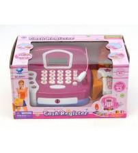 Bērnu kases aparats ar skaneri, gaismu, skaņu un LCD ekrānu 229594