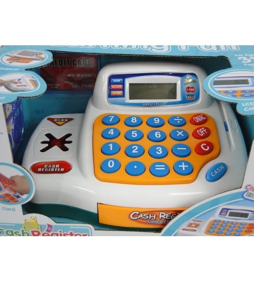 Bērnu kases aparats ar gaismu un LCD ekrānu 441019