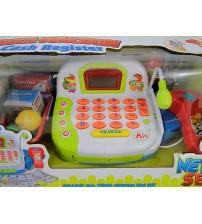 Bērnu kases aparats ar mikrofonu, gaismu un LCD ekrānu 460713