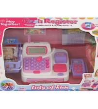 Bērnu kases aparats ar gaismu, skaņu, mikrofonu un LCD ekrānu 462748