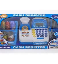 Bērnu kases aparats ar mikrofonu,  skaņu, gaismu un LCD ekrānu 480032