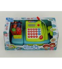 Bērnu kases aparats ar gaismu, skaņu, mikrofonu un LCD ekrānu 507845