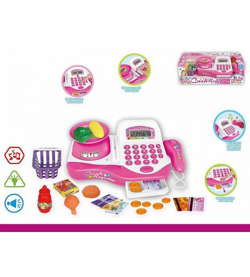 Bērnu kases aparats ar gaismu, skaņu un LCD ekrānu 499645