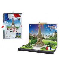 Puzzle 3D ar gaismu Eiffel Tower 23.5x16 cm 492585