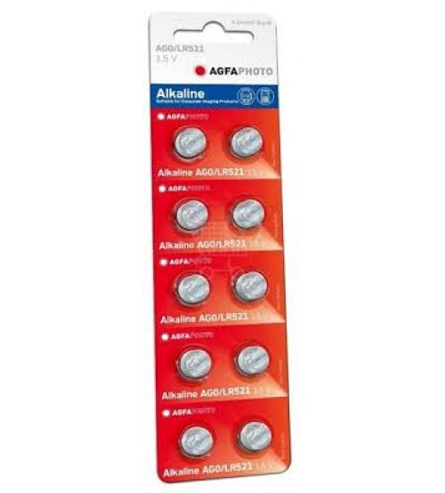 Baterijas AGFA AG0 B10 Kods APAG0B10