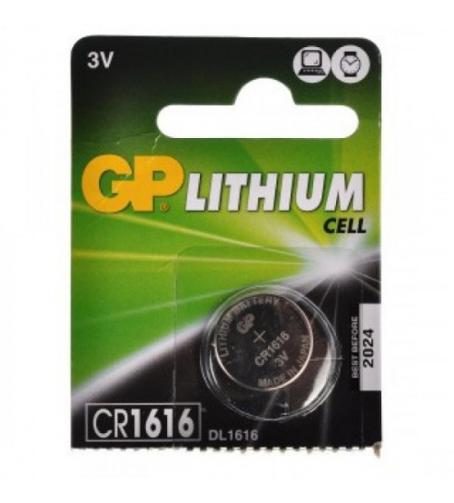 Baterijas GP CR1616 Lithium  Kods CR1616-G5