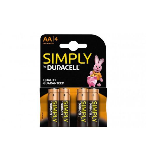 Baterijas Duracell AA Basic Simply Kods DR-AA-BASIC