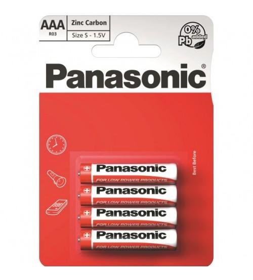 Baterijas PANASONIC Zinc R03 AAA
