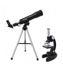 Teleskops ar 50/360 AZ & Mikroskops 300x-1200x komplekts bērniem National Geographics 67545