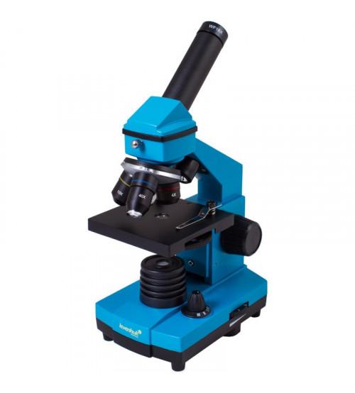 Mikroskops ar eksperimentālo komplektu K50 Levenhuk Rainbow 2L PLUS metāla korpuss debeszilā krāsā 69068