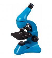 Mikroskops Bērniem ar Eksperimentālo Komplektu K50 Levenhuk Rainbow 50L PLUS Zilā krāsā 64x - 1280x  69078