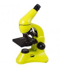 Mikroskops Bērniem ar Eksperimentālo Komplektu K50 Levenhuk Rainbow 50L PLUS Dzeltenā krāsā 64x - 1280x  69079