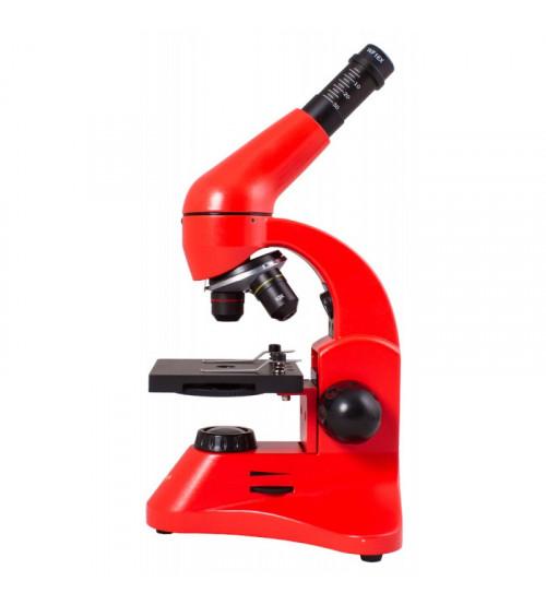 Mikroskops Bērniem ar Eksperimentālo Komplektu K50 Levenhuk Rainbow 50L PLUS Oranžā krāsā 64x - 1280x  69080