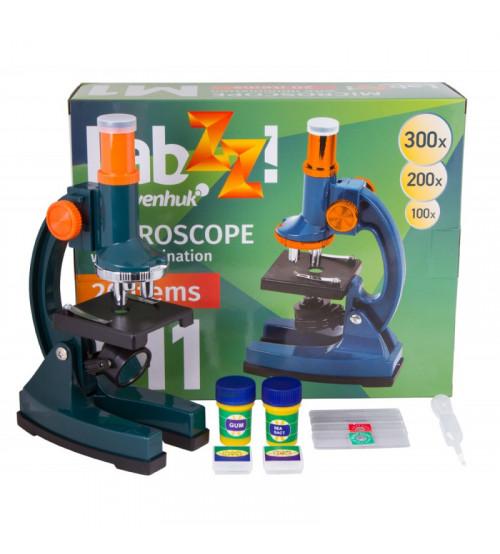 Mikroskops bērniem ar komplektu Levenhuk Labzz M1Plus 100x-300x 69739