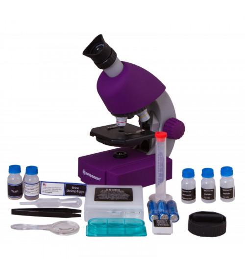 Mikroskops ar Eksperimentālo Komplektu Juniors 40x-640x, Violēts 70121