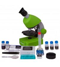 Mikroskops ar Eksperimentālo Komplektu Juniors 40x-640x Mikroskops, Zaļš 70124