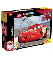 Puzlis divpusējais ar zīmējumu Supermaxi 108 el . Cars-3 70x50 cm 3+  LI60603