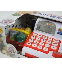 Bērnu kases aparats ar gaismu un LCD ekrānu 445352