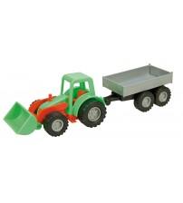 Traktors ar piekabi Mini (kastē) L01240
