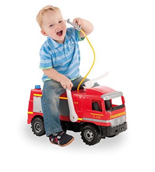 Liela ugunsdzēsēju mašīna LENA MAXI ar ūdens pumpi, 64cm, slodze 100kg (kastē)  L02058