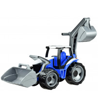 Traktors LENA MAXI ar kausu un iekrāvēju Zilā krāsa  107 cm L02081Z (kastē)