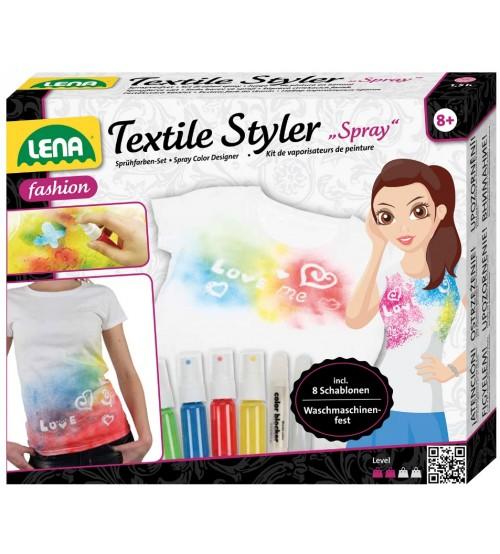 Krāsas komplekts tekstilam (8 šabloni, 4 krāsas)  8+ L42597 Lena