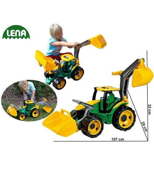 Traktors LENA MAXI ar kausu un iekrāvēju  107 cm L02080 (kastē)