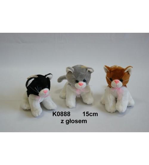 Plīša kaķis ar skaņu 15 cm (K0888) dažādas 120052