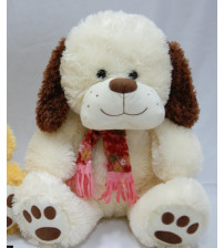Plīša lielais suns 47 cm ( P2685) baltā krāsā