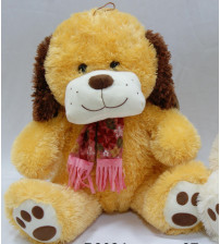 Plīša suns 37 cm (P2684) rudais