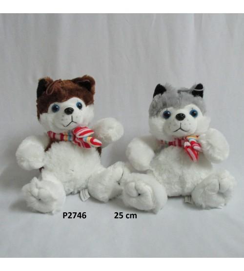 Plīša suns 25 cm haskijs (P2746) 133960