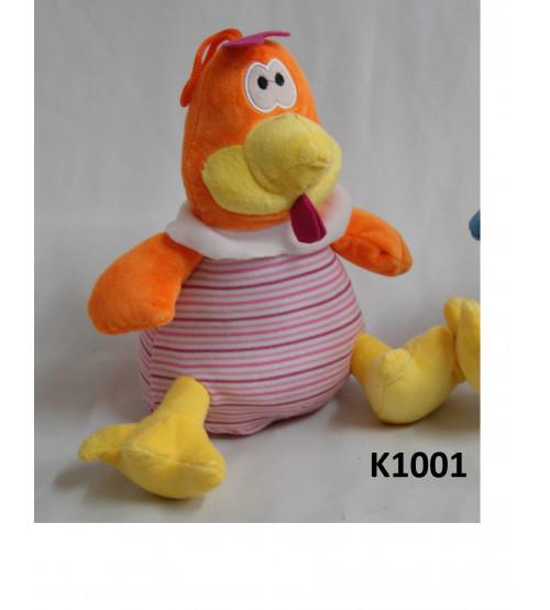 Mīkstais gailis 25 cm ( K1001)  oranžais