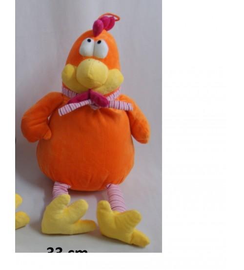 Mīkstais gailis 33 cm ( K1003) oranžais
