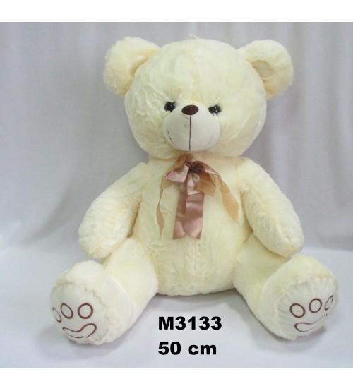 Lielais plīša lācīs 50 cm ( M3133) baltais