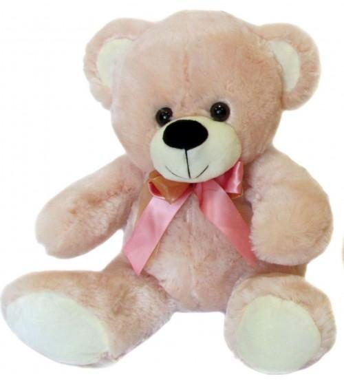 Plīša lācis 35 cm (M3363) rozais 144140-2
