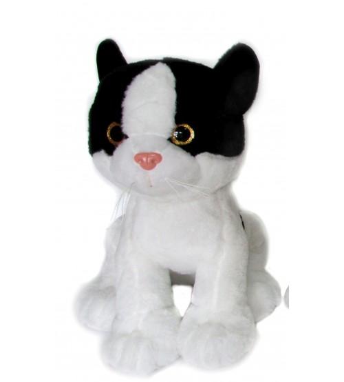 Plīša kaķis ar skaņu 38 cm (K1095)