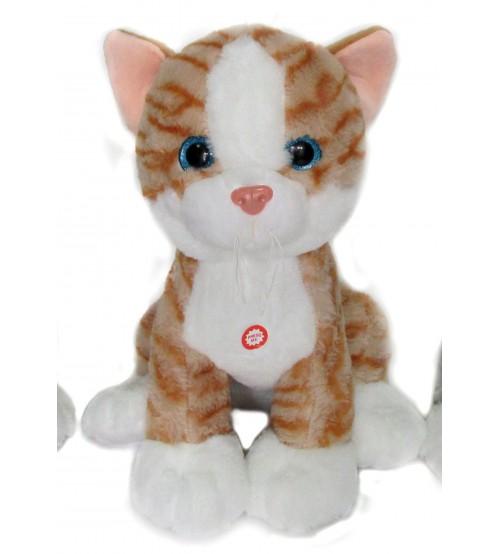 Plīša kaķis ar skaņu 28 cm (K1094) 146373-2